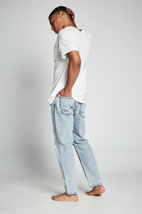 Rigid Relaxed Jean, MERCURY BLUE RIPS