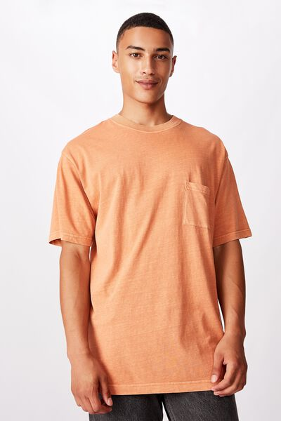 Loose Fit Washed Pocket Tee, DIRTY CLAY