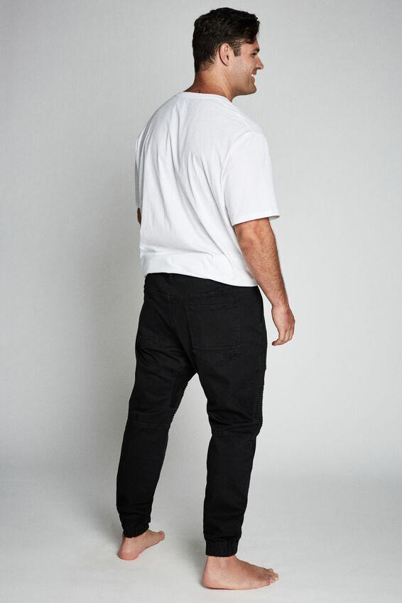 Slim Denim Jogger, JET BLACK MOTO