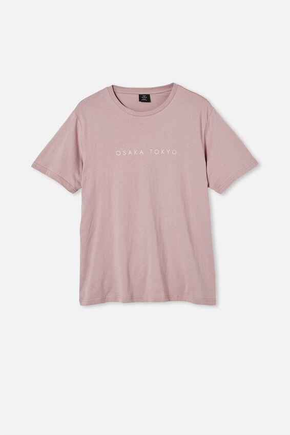 Tbar Text T-Shirt, DIRTY BURG/OSAKA TOKYO