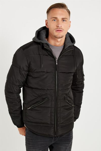 Ae Puffer Jacket, BLACK