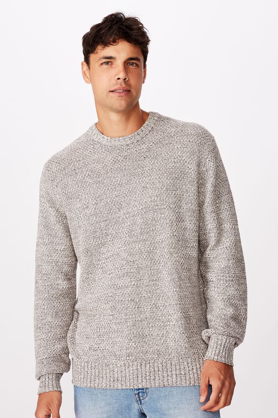 Crew Knit, TEXTURED GREY