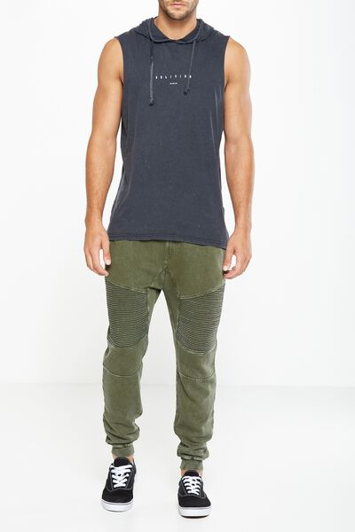 Moto Track Jogger, ARMY GREEN ACID