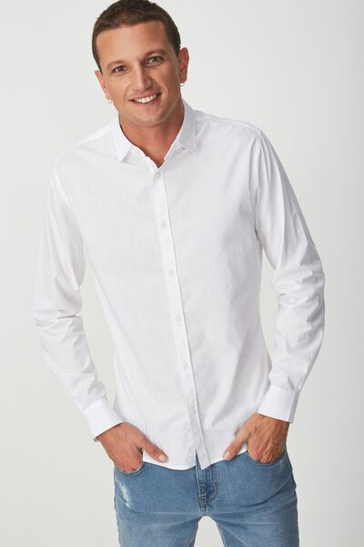 Slim Smart Shirt, WHITE