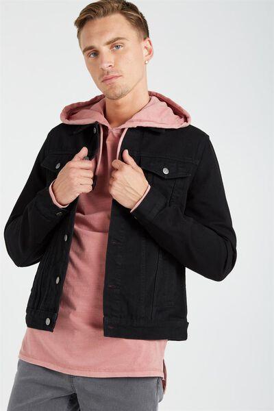 Ae Denim Jacket, BLACK