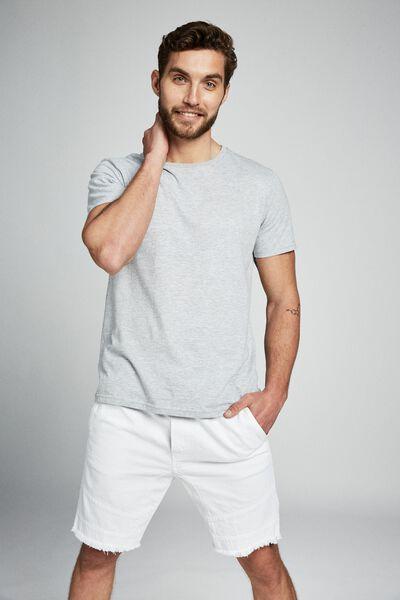 Customised Denim Short, WHITE BIKER