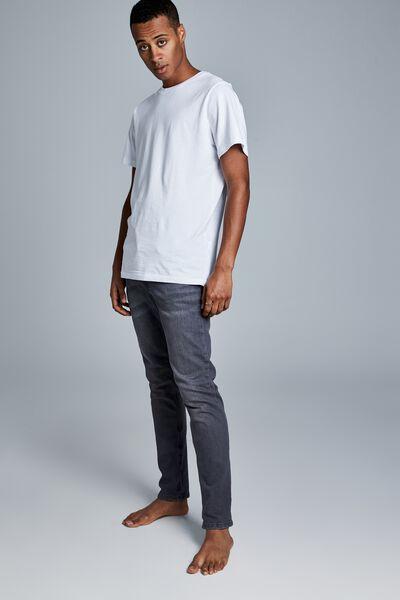 Tapered Leg Jean, GREY STORM