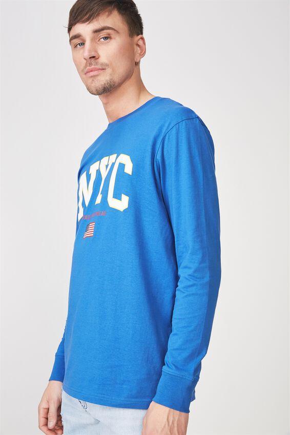 Tbar Long Sleeve, BLUE DELIGHT/NYC SPORTSWEAR