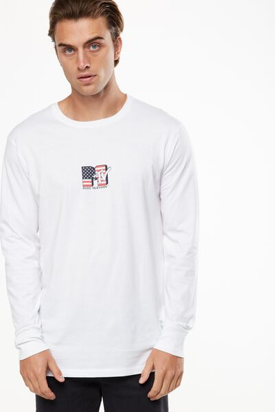 Tbar Collaboration Ls Tee, LC WHITE/SMALL MTV