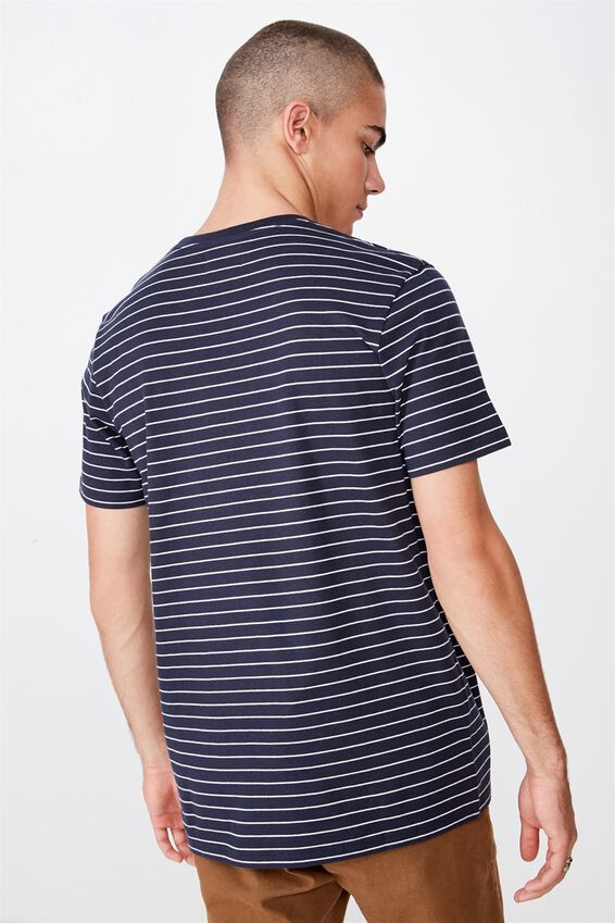 Tbar Premium T-Shirt, TRUE NAVY WHITE EASY STRIPE