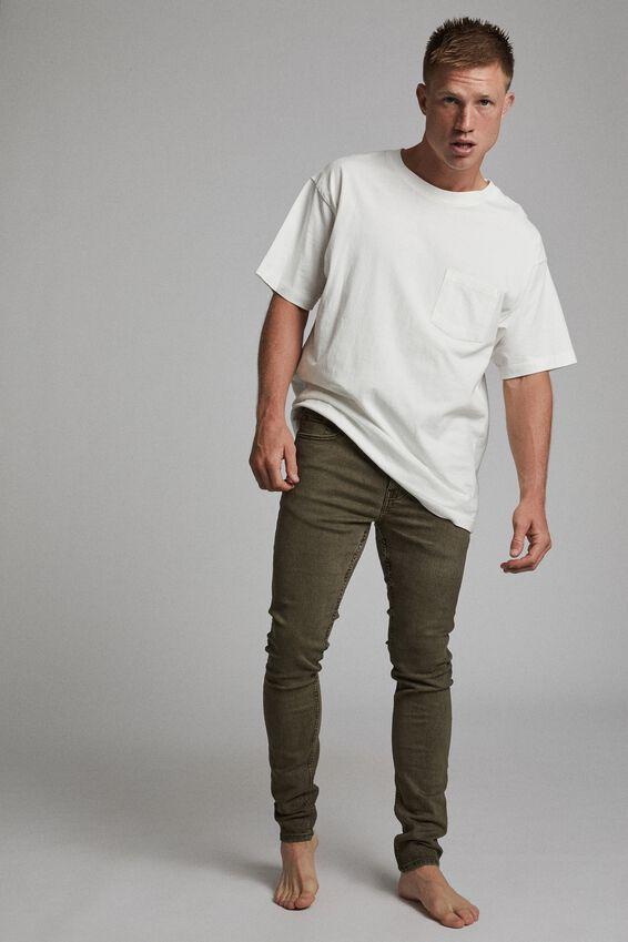 Super Skinny Jean, WASHED OLIVE