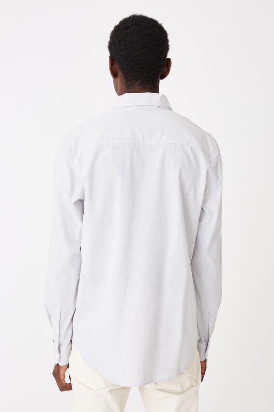 Textured Long Sleeve Shirt, TEXTURED GREY