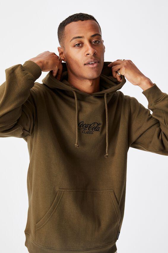 Collab Fleece Pullover, LCN COK MILITARY/COCA COLA CLASSIC