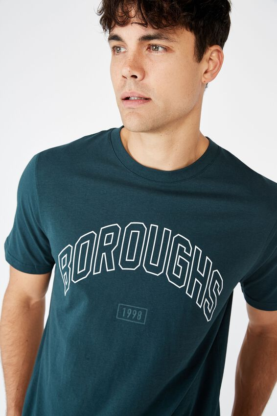 Tbar Sport T-Shirt, DEEP SEA TEAL/BOROUGHS 1998