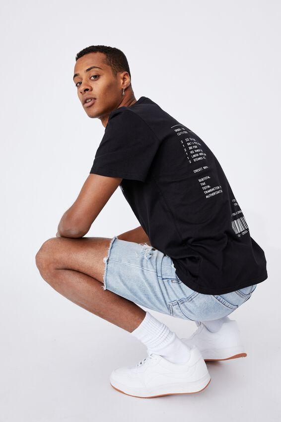 Tbar Cny T-Shirt, BLACK/TAKE OUT RECEIPT