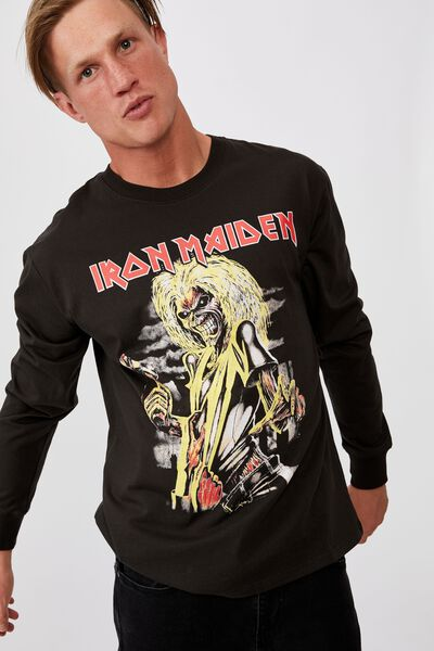 Tbar Collab Ls Tee, LCN IRM WASHED BLACK/IRON MAIDEN - KILLERS