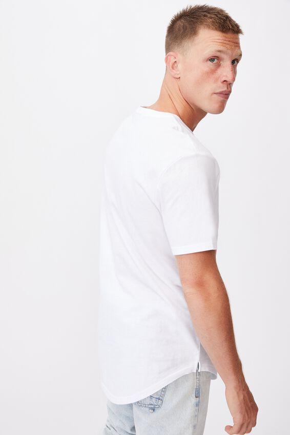 Longline Scoop Lounge T-Shirt, LCN BRA WHITE/ROLLING STONES  89