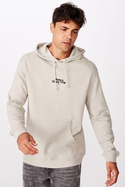 Fleece Pullover 2, SMOKE/HAVE A GOOD TRIP