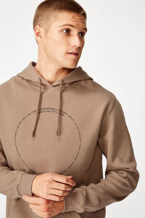 Fleece Pullover 2, TAUPE/MODERN LANDSCAPES