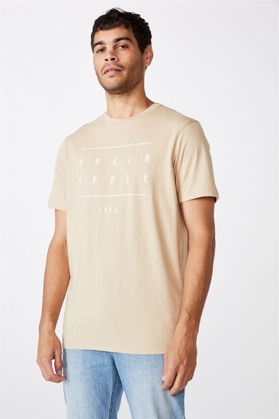 Tbar Street T-Shirt, CLAY STONE/BRKLYN SPPLY 1980