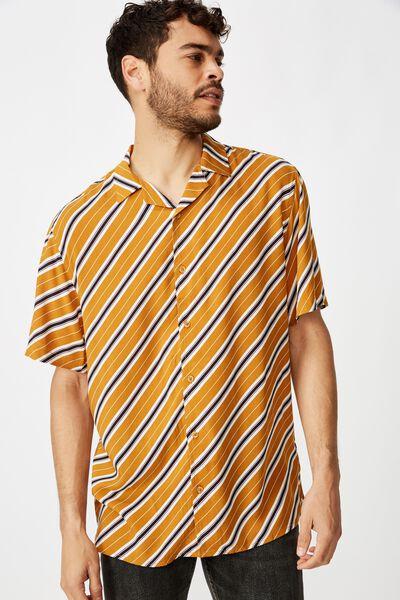 Festival Shirt, MUSTARD ANGLED STRIPE