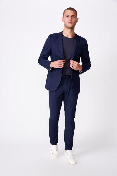 Super Stretch Slim Suit Jacket, INDIGO BLUE