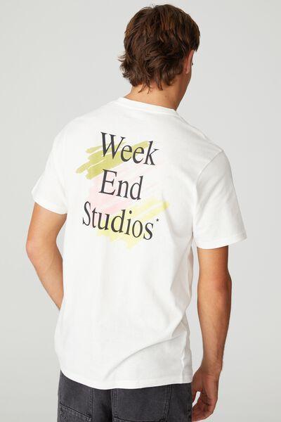 Tbar Street T-Shirt, VINTAGE WHITE/WEEKEND SCRIBBLE