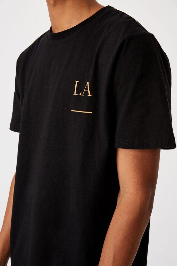 Tbar Street T-Shirt, BLACK/LA SIMPLE