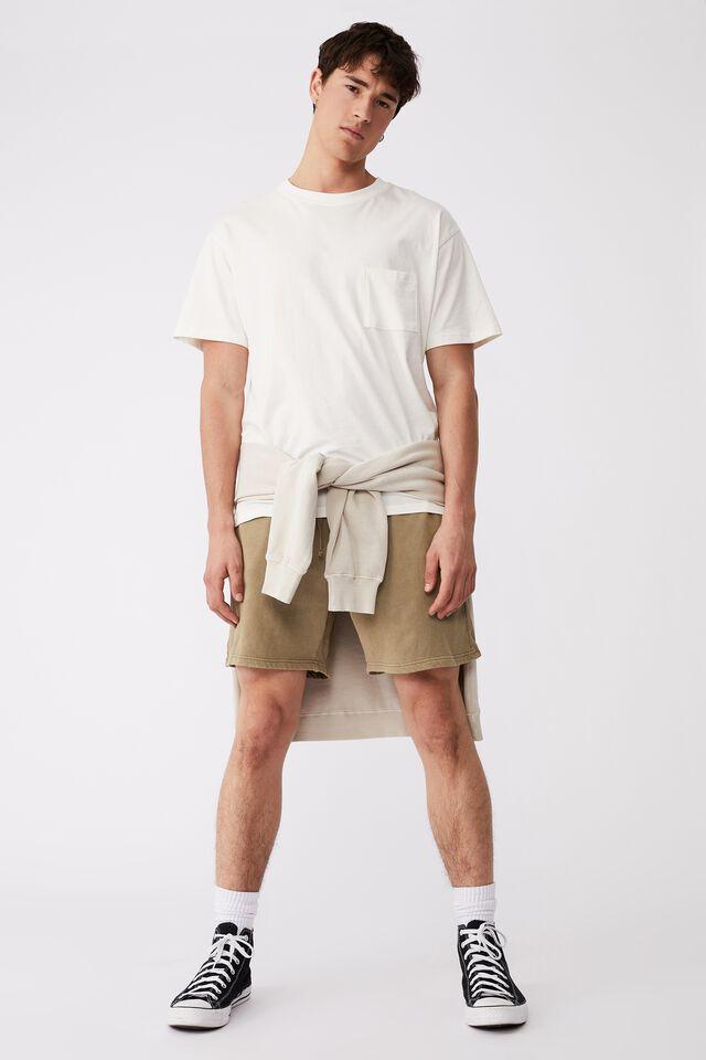 Pigment Fleece Short, PIGMENT GRAVEL STONE