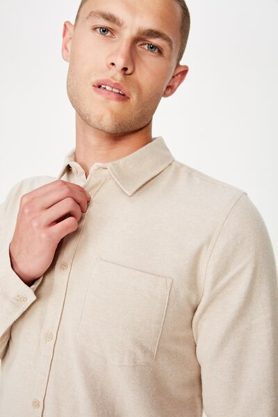 Rugged Long Sleeve Shirt, TAN TWIST