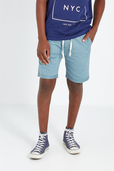 Tailored Casual Short, MINERAL BLUE