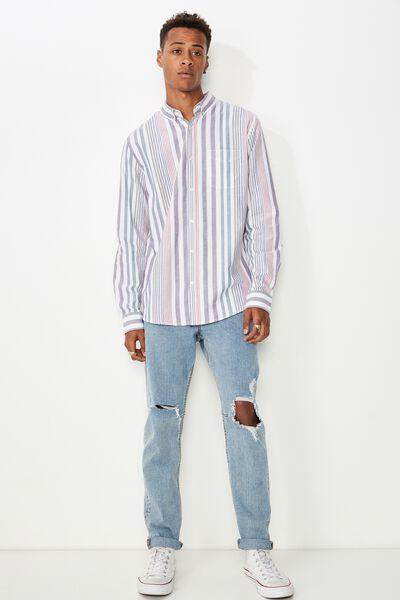 Brunswick Shirt 3, WHITE BOLD MULTI STRIPE