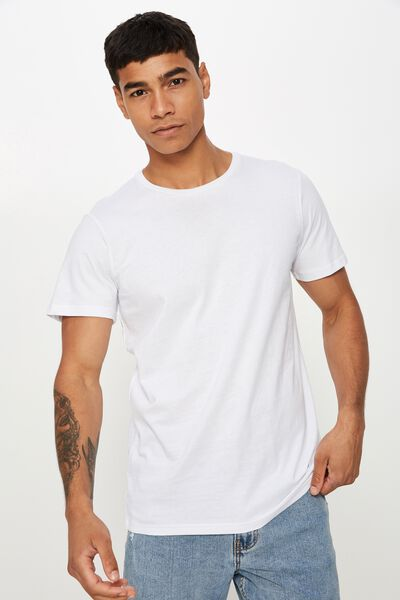 Essential Crew Tee, WHITE