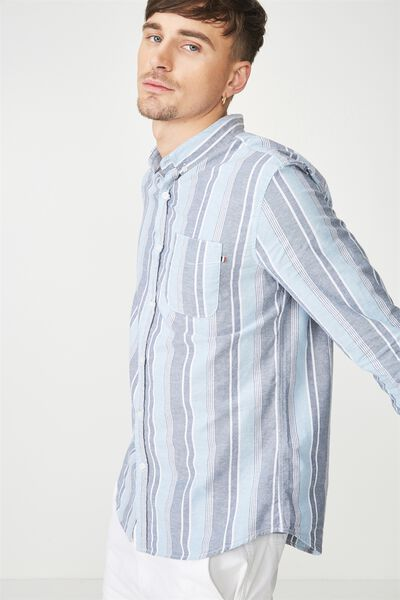 Brunswick Shirt 3, DENIM MULTI STRIPE