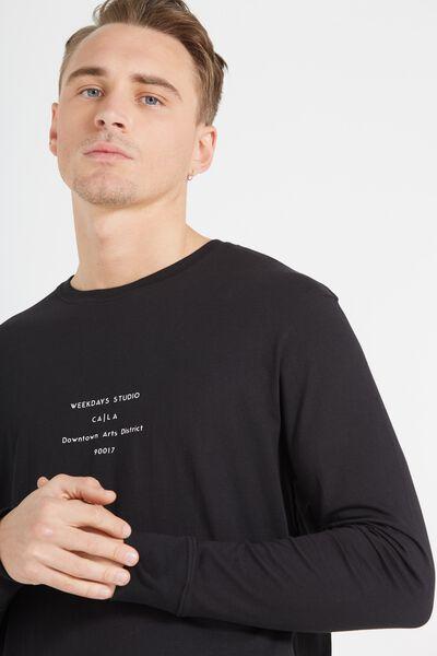 Tbar Long Sleeve, BLACK/WEEKDAYS STUDIO