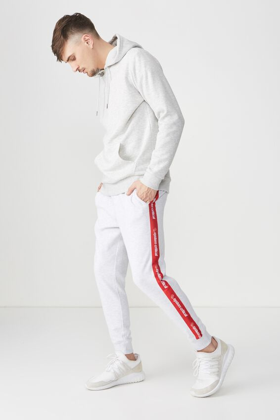 Trippy Slim Trackie, ATHLETIC MARLE/RED SYSTEMS CRITICAL