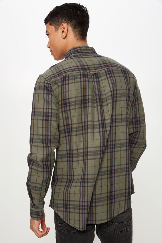 Brunswick Shirt 3, KHAKI NAVY BOLD CHECK