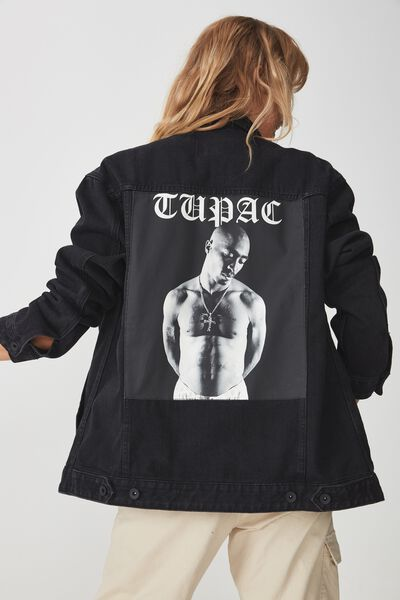 Rodeo Collaboration Jacket, TUPAC BLACK & WHITE/BLACK
