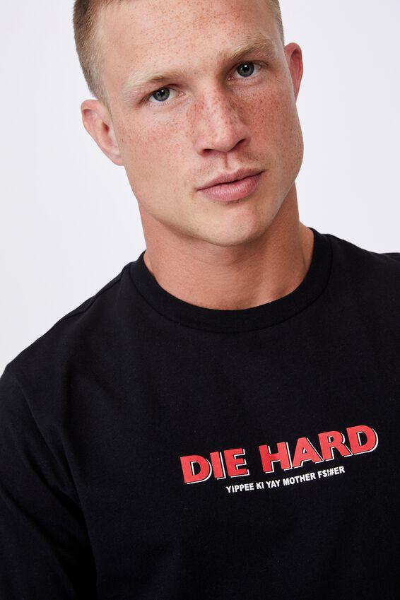 Tbar Collab Movie And Tv T-Shirt, LCN DIS BLACK/DIE HARD - YIPPEE KI YAY