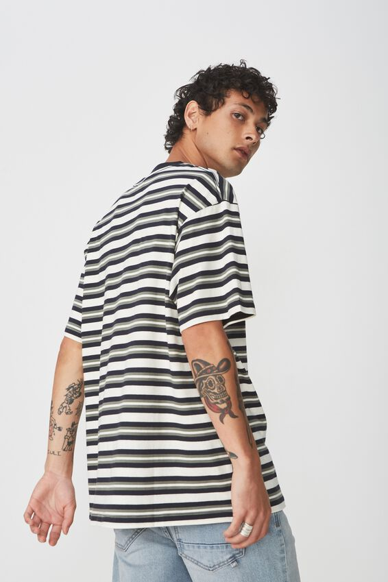 Dylan Tee, NAVY/BONE/BUSH GREEN/VINTAGE STRIPE