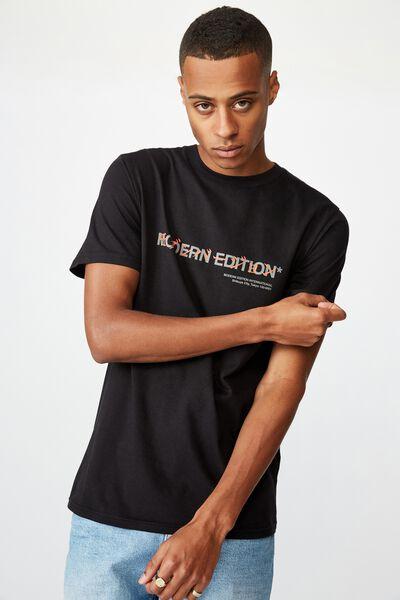 Tbar Text T-Shirt, BLACK/MODERN EDITION SHIBUYA