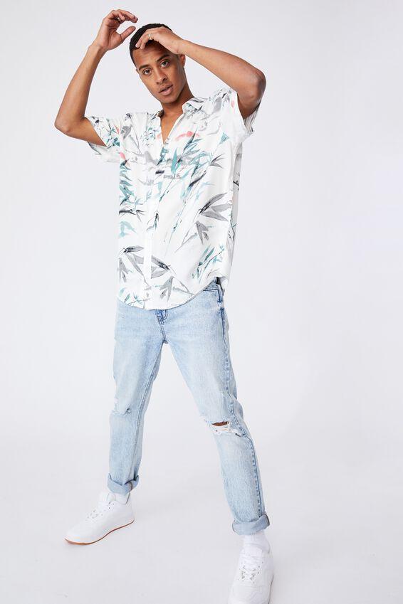 Short Sleeve Resort Shirt, BAMBOO SUN