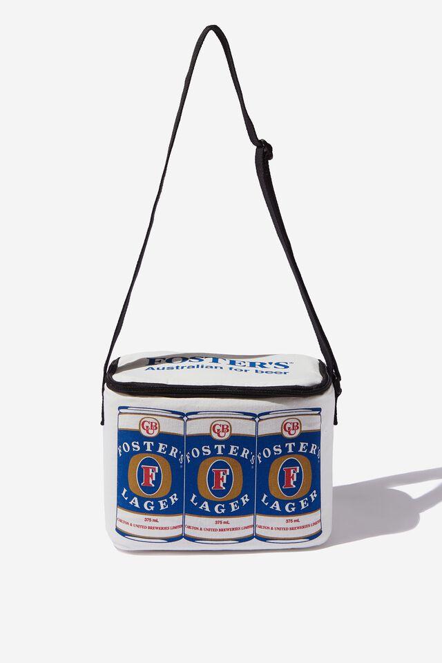 Fosters Cooler Bag, LCN FOS VINTAGE WHITE/ 6 PACK