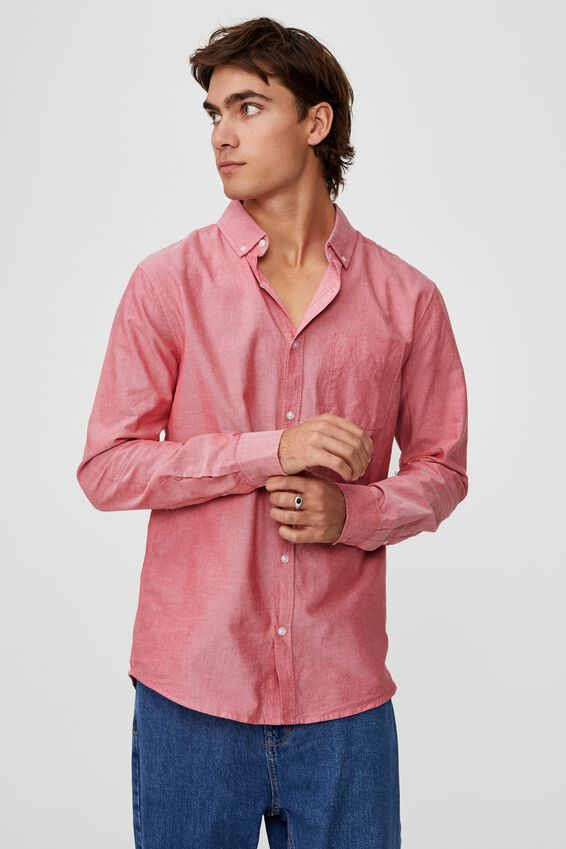 Brunswick Shirt 3, RED OXFORD