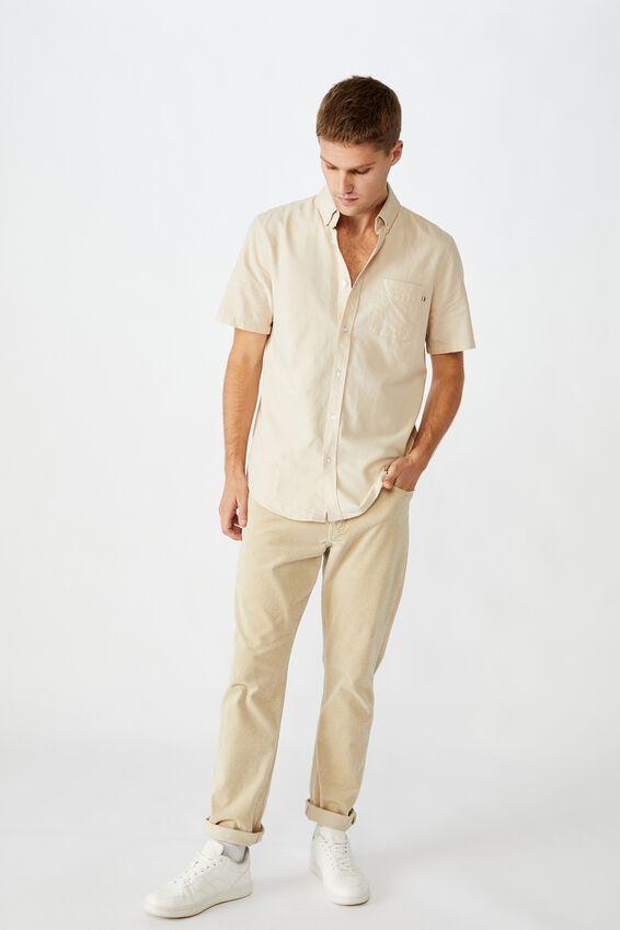 Vintage Prep Short Sleeve Shirt, ECRU