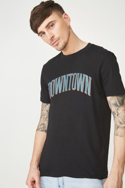 Active Graphic Tee, BLACK/DOWNTOWN