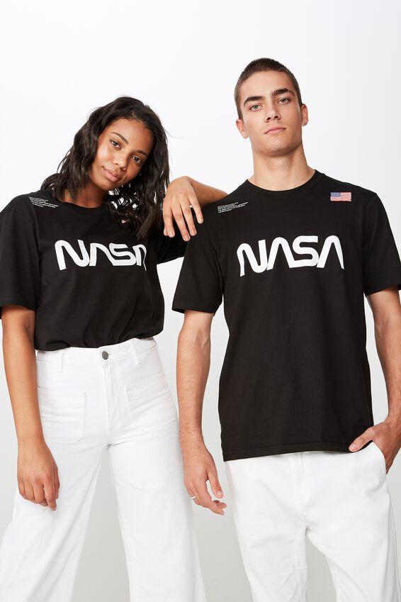 Nasa T Shirt, LC SK8 BLACK/NASA - LOGO