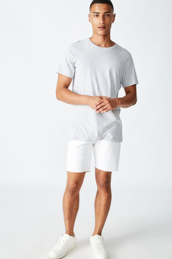 Raw Hem Chino, WHITE