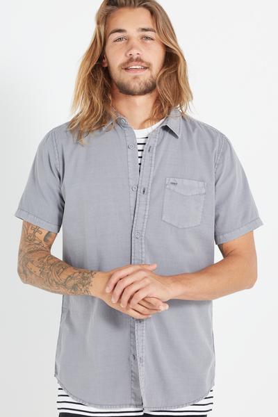 Sunset Short Sleeve Shirt, WASHED GREY