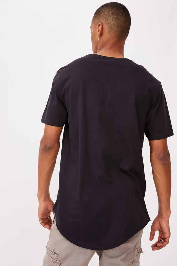 Longline Scoop T-Shirt, INK NAVY/NINETEEN NINETY NINE